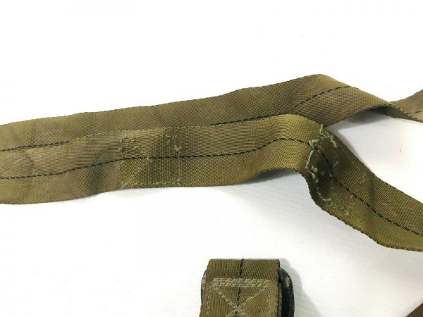 used condition nylon double d buckle straps off parachutes