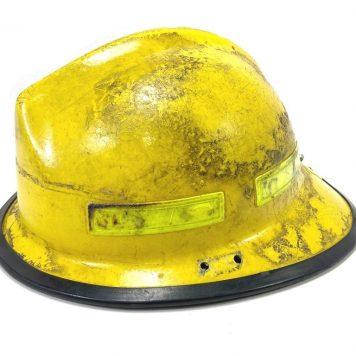 used fireman's helmet