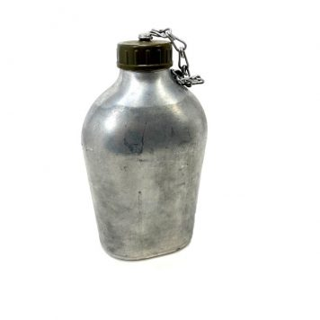 french aluminum army canteen