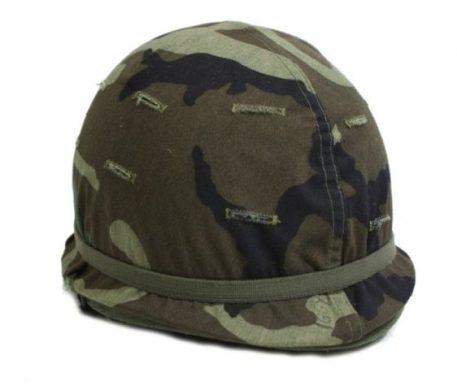military surplus army steel pot helmet m-1 woodland