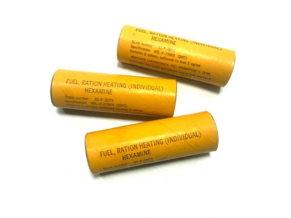 military surplus fuel tablets, hexamine