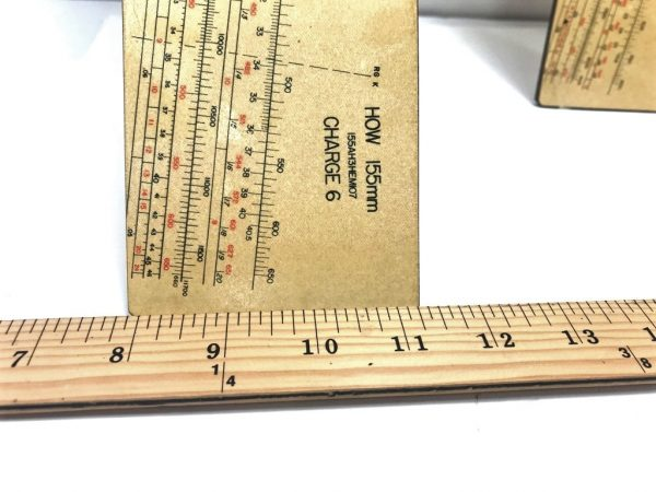 military surplus howitzer ruler only, poor condition