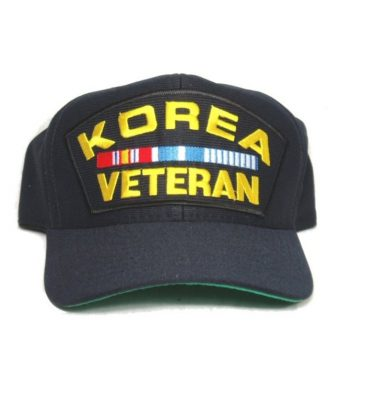 military surplus korea veteran cap with ribbons