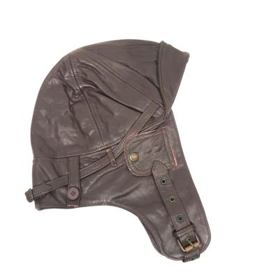 military surplus leather aviator cap