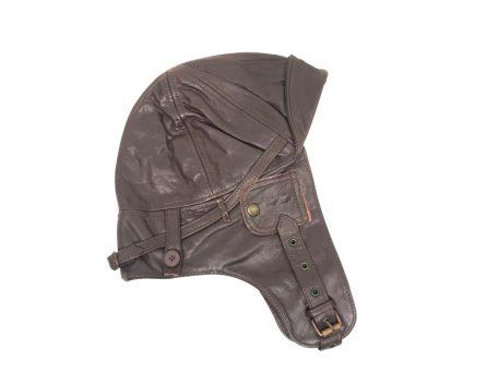 military surplus leather aviator cap
