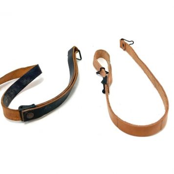 military leather chinstrap for helmet
