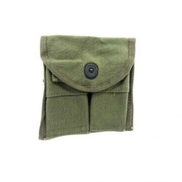 olive drab m-1 carbine mag pouch, sterile cia