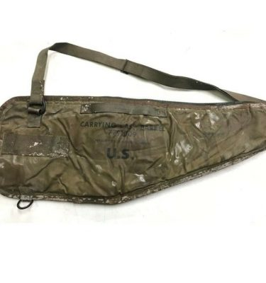 m60 machine gun spare barrel case, brown leather with all around zipper