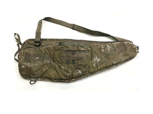 m60 machine gun spare barrel case, brown leather with all around zipper