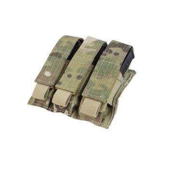 military surplus multicam triple pistol mag pouch