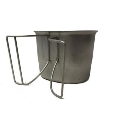 military surplus canteen cup with wire handle