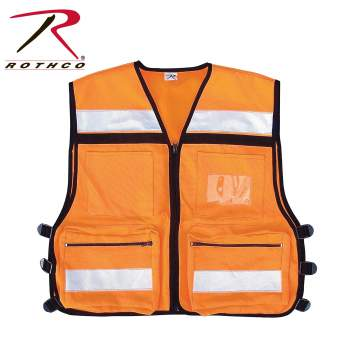 high vis safety vest orange