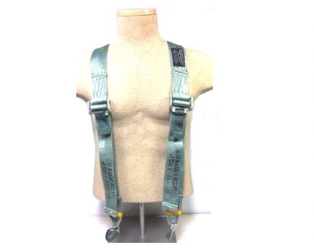 """Harness, Aircraft safety, shoulder, adjustable. These nylon, 2"""" wide, y-type shoulder harness"""
