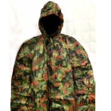 military surplus swiss camouflage poncho