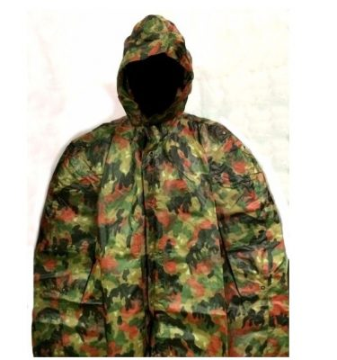 military surplus swiss camouflage poncho