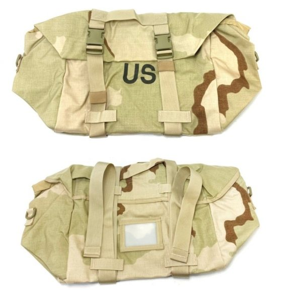 3 color desert sleeping bag carrier system, molle