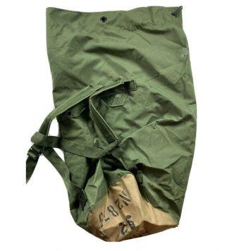 olive drab us used condition nylon duffle bag