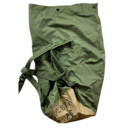 olive drab us used condition nylon duffle bag