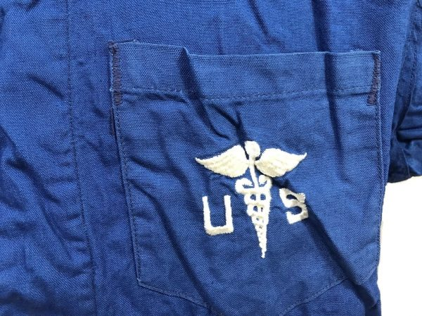 blue pajama medical top military surplus