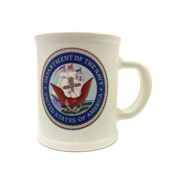 navy coffee cup