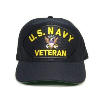 military surplus us navy veteran cap with eagle
