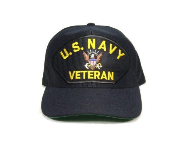 military surplus us navy veteran cap with eagle