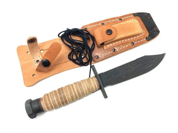 airforce pilots survival knife with sheath and sharpening stone