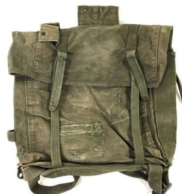 military surplus usmc haversack m1941 top pack, very used condition