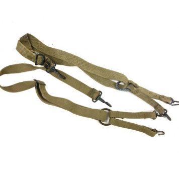 ww2 usmc m41 khaki suspenders used fair condition