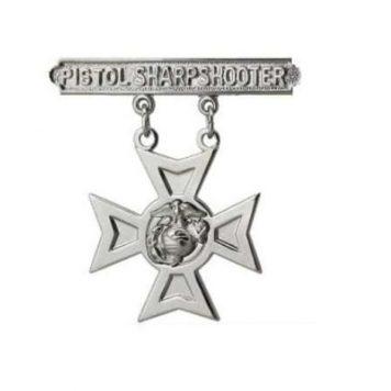 usmc pistol sharpshooter badge