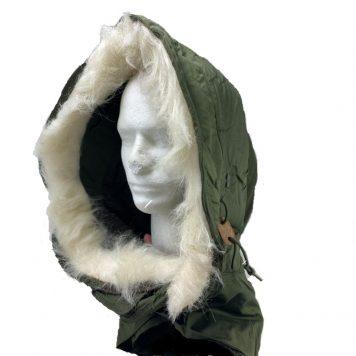 military surplus usn short hood with fur