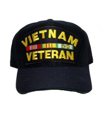 military surplus vietnam vet cap with ribbons
