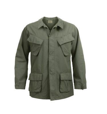 military surplus vintage olive drab rip stop fatigue shirt