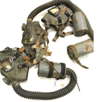 military surplus ww2 gas mask, used