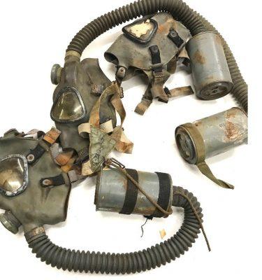 military surplus ww2 gas mask, used