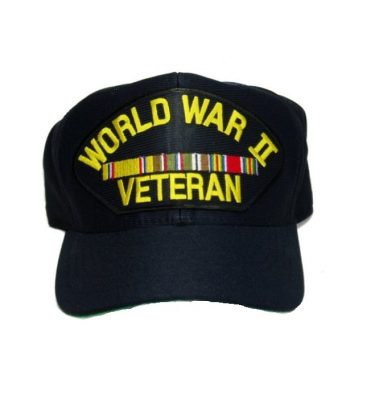 military surplus ww2 veteran cap with european ribbons