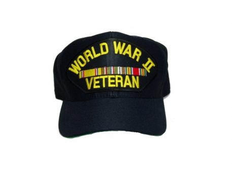 military surplus ww2 veteran cap with european ribbons