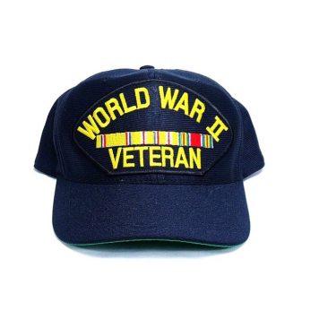 military surplus ww2 veteran cap with pacific ribbons
