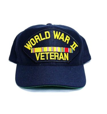military surplus ww2 veteran cap with pacific ribbons