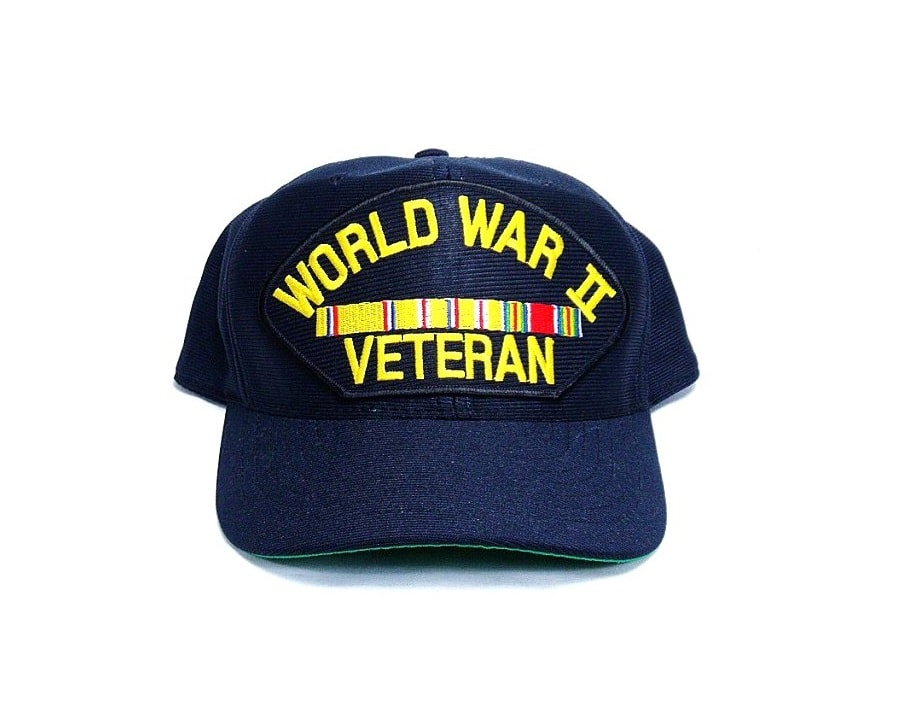 WW2 Veteran Cap w/ Pacific Ribbons