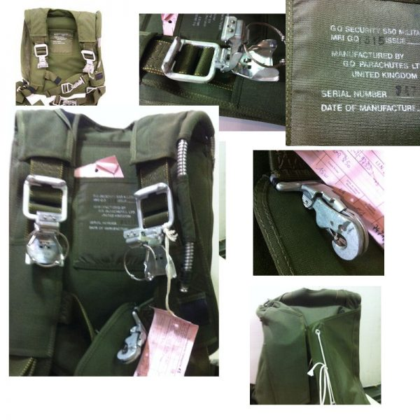 military surplus british parachute harness pack