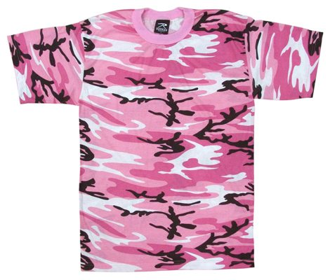 Youth T shirt Short Sleeve Pink Camo