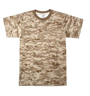 Youth T shirt Short Sleeve Desert Digital