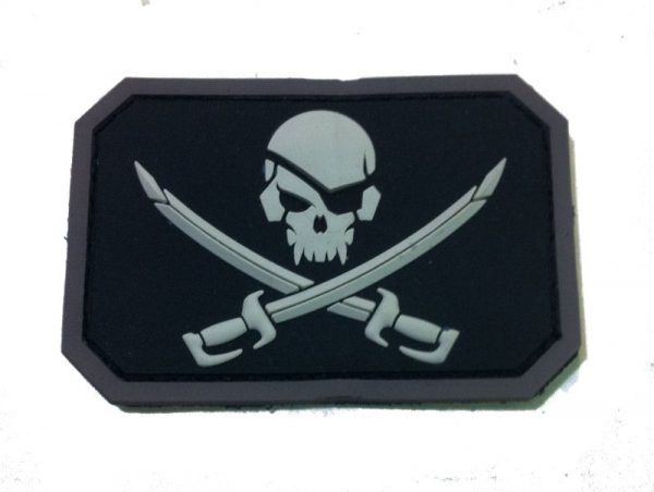 Skull Black And White Morale Patch