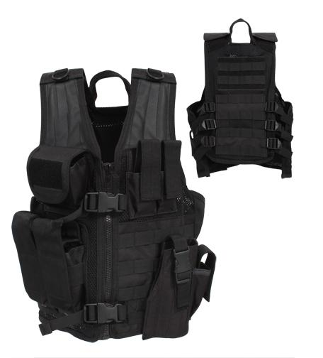 Kid's Black Crossdraw Vest