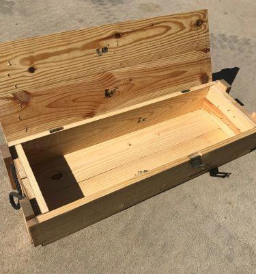 wood military surplus ammo box