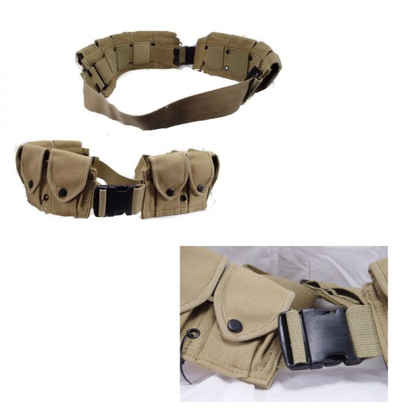 10 Pocket Cartridge Belt, Copy, Khaki