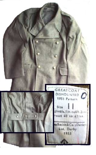 British Army Issue Wool Overcoat