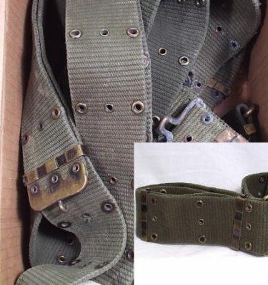 Vietnam Cotton Pistol Belt Vertical Weave Used