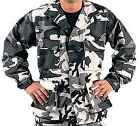 Bdu City Camo Shirt, Twill